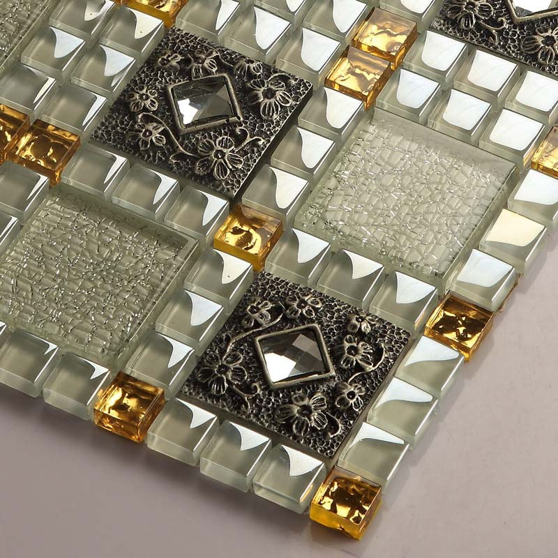 crystal glass tile diamond vitreous mosaic wall tiles - 611
