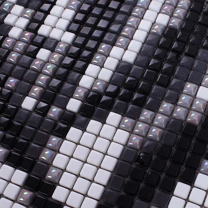 Wholesale Vitreous Mosaic Tile Pattern Glazed Crystal Glass