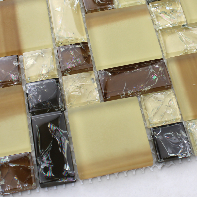 crystal glass tile vitreous ice crack mosaic wall tiles - kls381