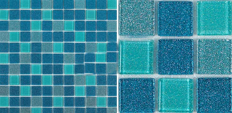 crystal glass tile vitreous mosaic wall tiles - b127