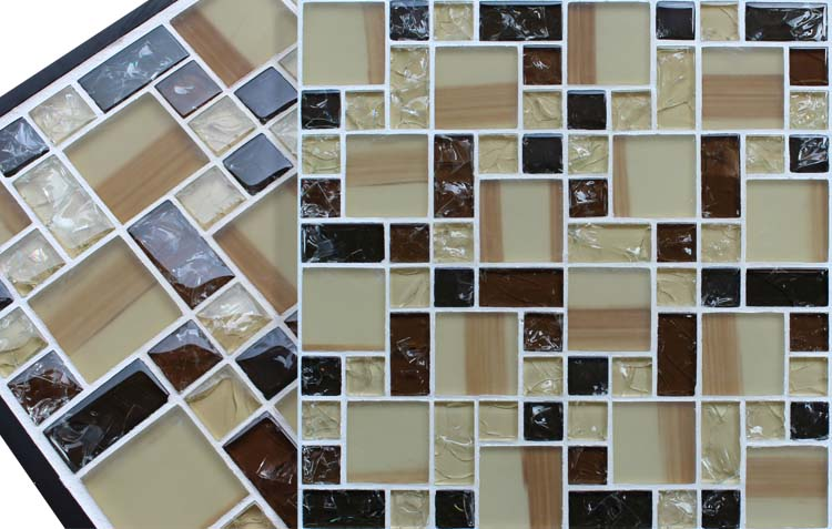 crystal glass tile vitreous mosaic wall tiles - kls381