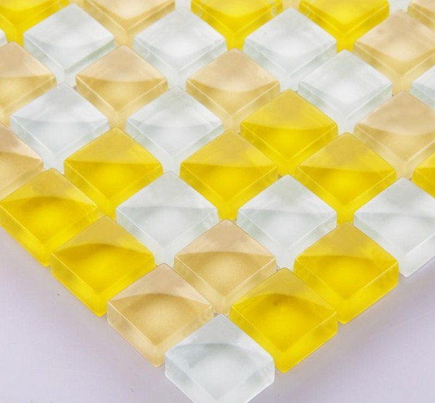 crystal glass tile vitreous mosaic wall tiles - yf-bl44
