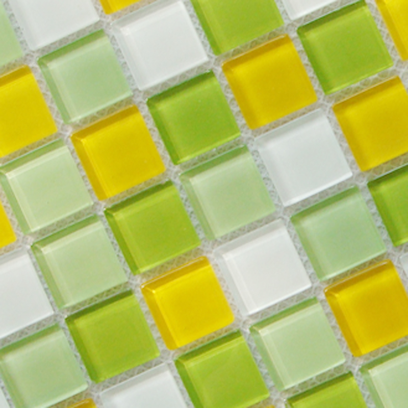 crystal glass tile mosaic tiles wall stickers sheet - 10020