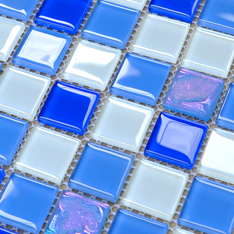 Crystal Glass Mosaic Tiles Design Kitchen Bathroom Wall
