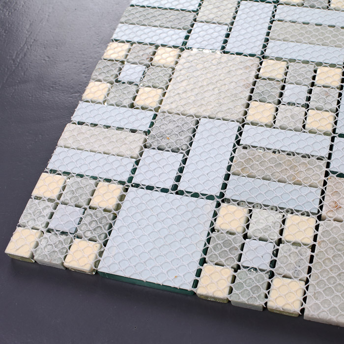 Natural marble glass mosaic tile wall stickers