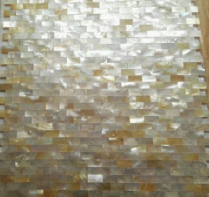 Golden Shell Tiles Kitchen Backsplash Tile Mother Of Pearl