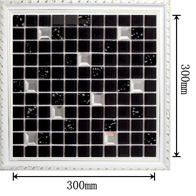 Wholesale black crystal glass mosaic tile washroom for Dimensional tile backsplash