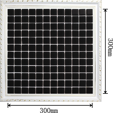 dimensions of the black glass mosaic tile backsplash wall stickers tiles sheet - sa061