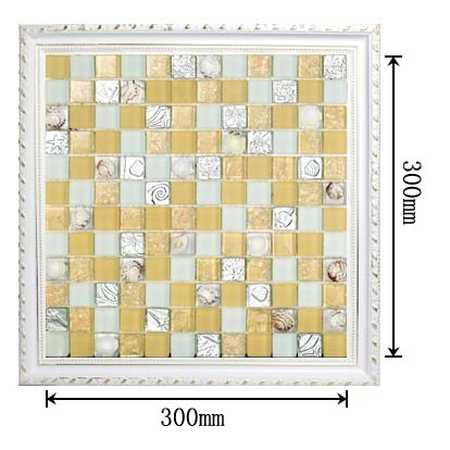 dimensions of the glass mosaic tile backsplash wall sticers S169