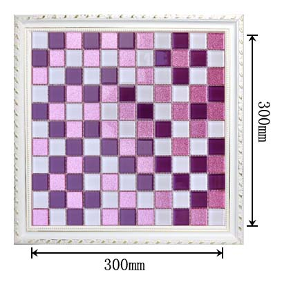 dimensions of the glass mosaic  tile backsplash wall stickers pk562
