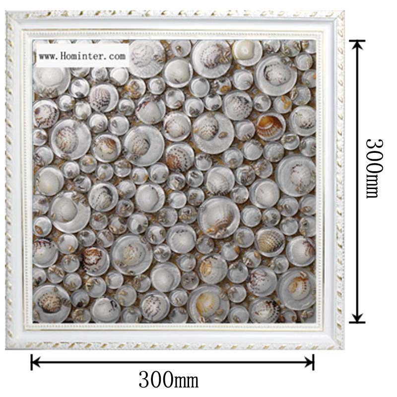 dimensions of the pebble glass mosaic shell tile backsplash wall sticers 619