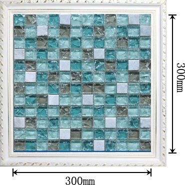 dimensions of crackle mosaic glass tile - bl2306