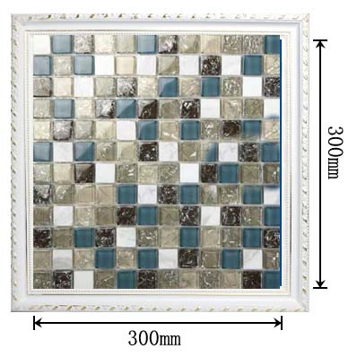 dimensions of crackle mosaic glass tile - l316