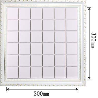 dimensions of glazed porcelain mosaic tile - hb-656