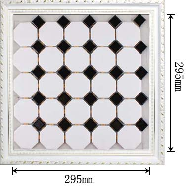 dimensions of glazed porcelain mosaic tile - hb-680