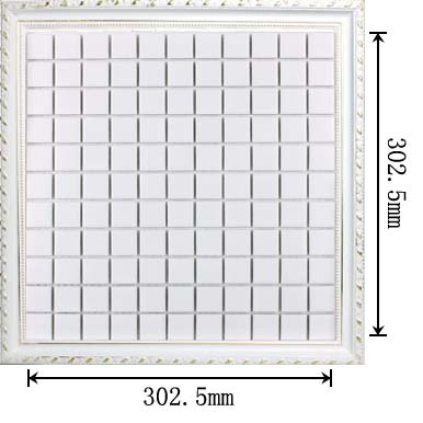 dimensions of glazed white porcelain mosaic tile - hb-002