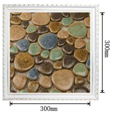dimensions of pebble porcelain mosaic tile - 4789