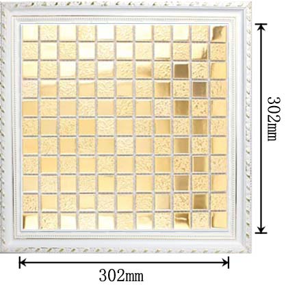 dimensions of porcelain mosaic mirror tile - hd-062