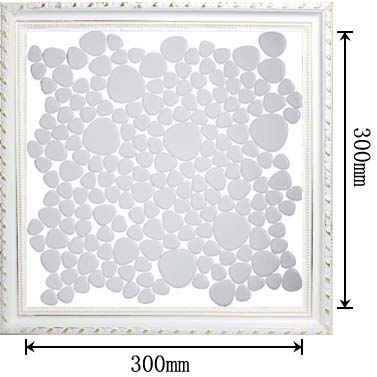 dimensions of porcelain mosaic pebble tile - aty1103