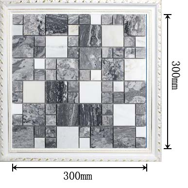 dimensions of stone glass blend mosaic glass tile - t046