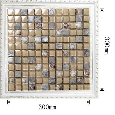 dimensions of stone glass shell blend mosaic glass tile - 615