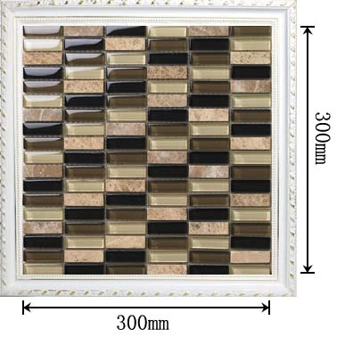 dimensions of stone strip crystal glass blend mosaic glass tile - 605