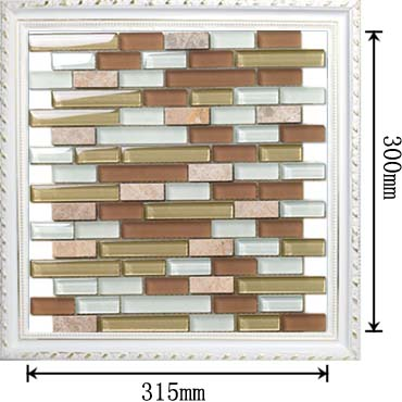dimensions of stone strip glass blend mosaic glass tile - 607