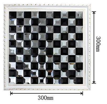 dimensions of the black and white glass mosaic tile backsplash wall sticers - kl923