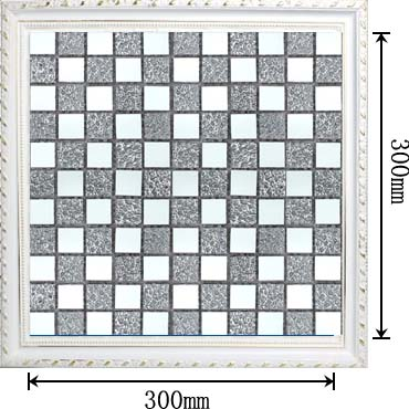dimensions of the glass mirror mosaic tile backsplash wall sticers - kl931