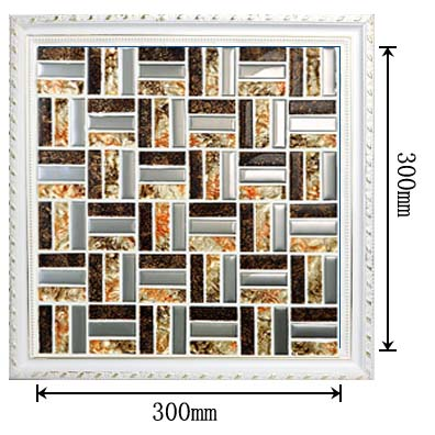 dimensions of the glass mosaic tile backsplash wall ice-crack-sticers -d197