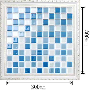 dimensions of the glass mosaic tile backsplash wall sticers - 1113