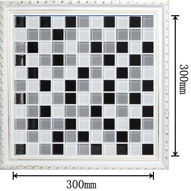 dimensions of the glass mosaic tile backsplash wall sticers - as2015