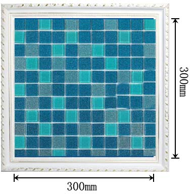 dimensions of the glass mosaic tile backsplash wall sticers -b127
