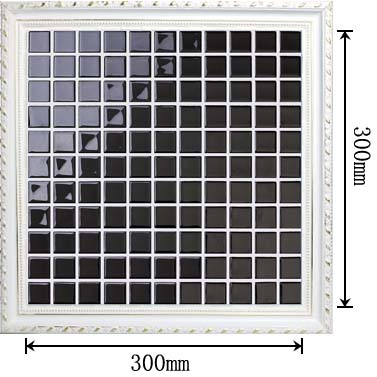 dimensions of the glass mosaic tile backsplash wall sticers - hj140