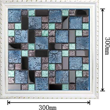 dimensions of the glass mosaic tile backsplash wall sticers - kl785