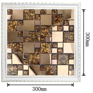 dimensions of the glass mosaic tile backsplash wall sticers kls033