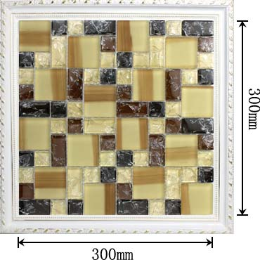 dimensions of the glass mosaic tile backsplash wall sticers -kls381