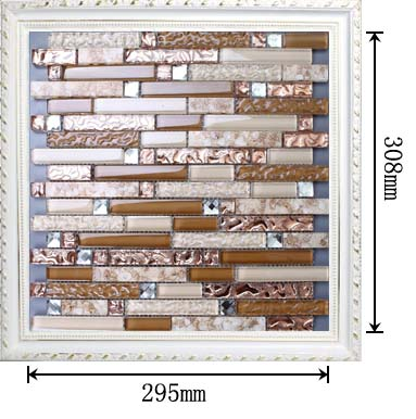 dimensions of the glass mosaic tile backsplash wall sticers ks183