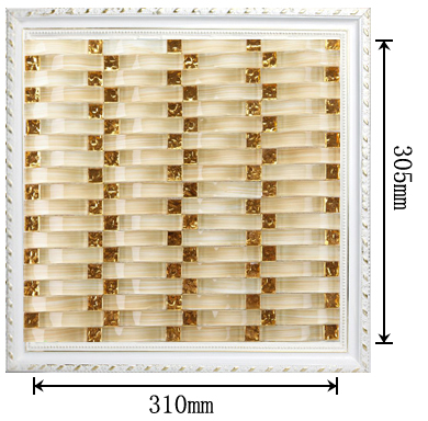 dimensions of the glass mosaic tile backsplash wall sticers - yf-88