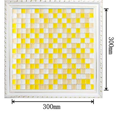 dimensions of the glass mosaic tile backsplash wall sticers yf-bl44
