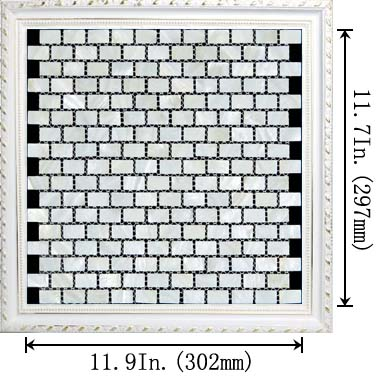 dimensions of the light weight mother of pearl tile natural white shell tiles - st054