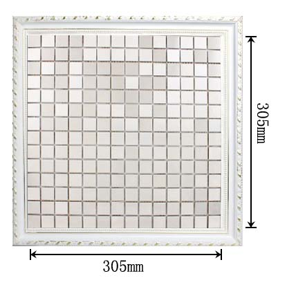 dimensions of the metallic mosaic tile stainless-steel brushed aluminum blend - HD-092
