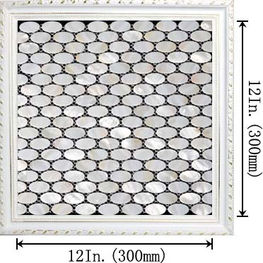 dimensions of the mother of pearl tile - st052
