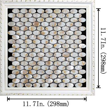 dimensions of the mother of pearl tile - st067