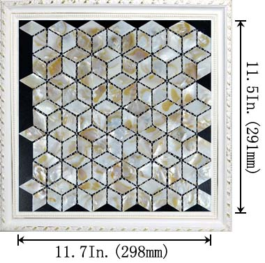 dimensions of the mother of pearl tile - st068
