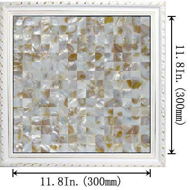 dimensions of the mother of pearl tile - st070