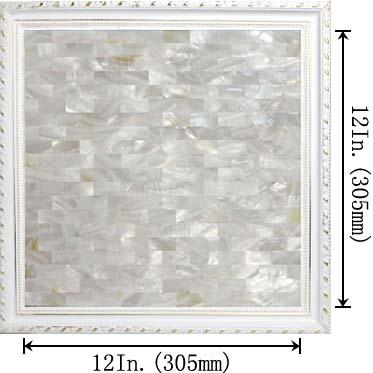 dimensions of the mother of pearl tile - st077