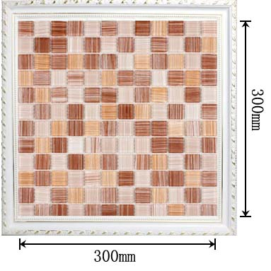 dimensions of the painted glass mosaic tile backsplash wall sticers - hc-043