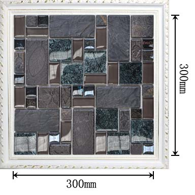 dimensions of the porcelain crystal glass blend mosaic tile - vg001