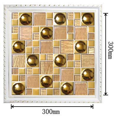 dimensions of the porcelain crack glass blend mosaic tile art design plated wall stickers- yg82